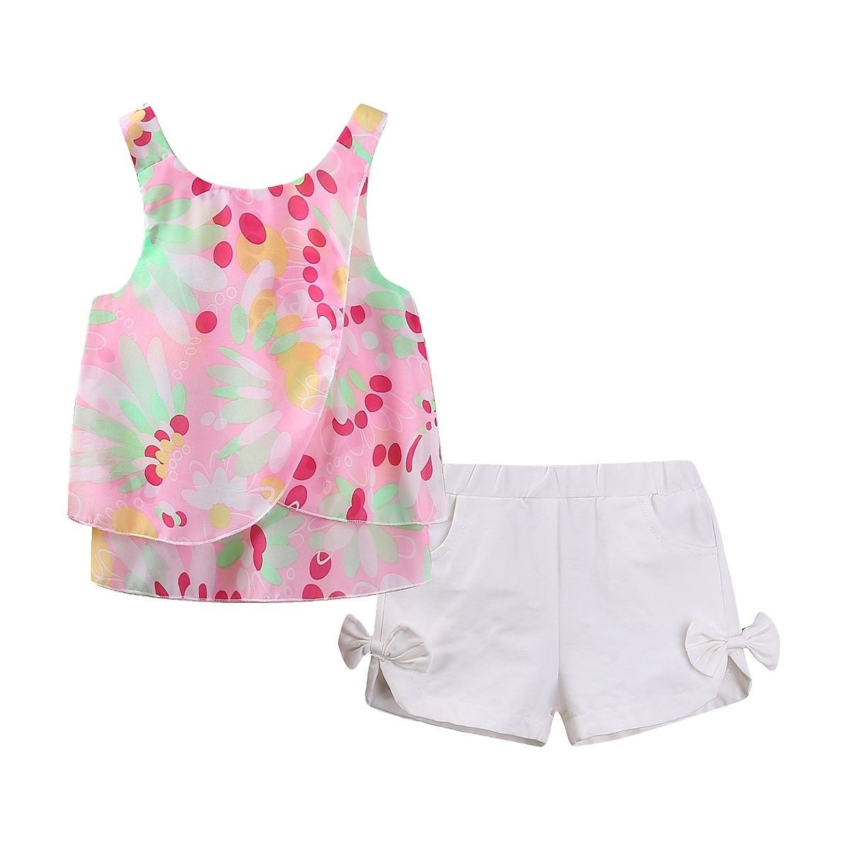 Little Girl Outfits Floral Chiffon Top and Short Set - CY12EUDGZHV | Girl  outfits, Little girl outfits, Girls summer outfits