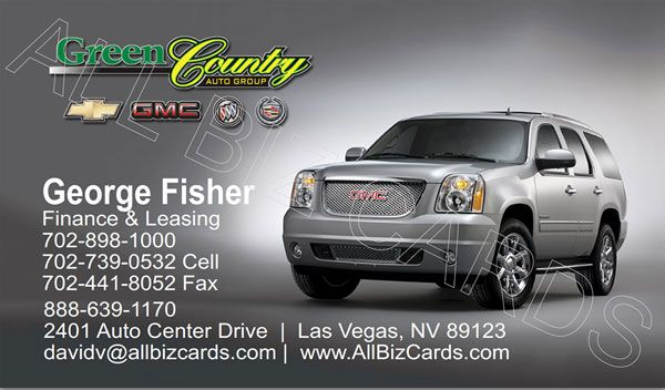 2013 Gmc Yukon Denali Business Card Id 20854 Gmc Yukon Gmc Gmc