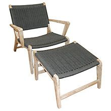 Buy LG Outdoor Hanoi Harbour Steamer Armchair With Footstool, FSC-Certified (Acacia), Whitewash Online at johnlewis.com