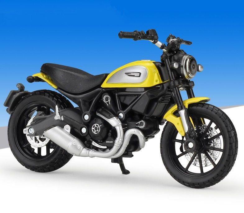 1:18 Maisto Ducati SCRAMBLER Motorcycle Bike Model New Yellow