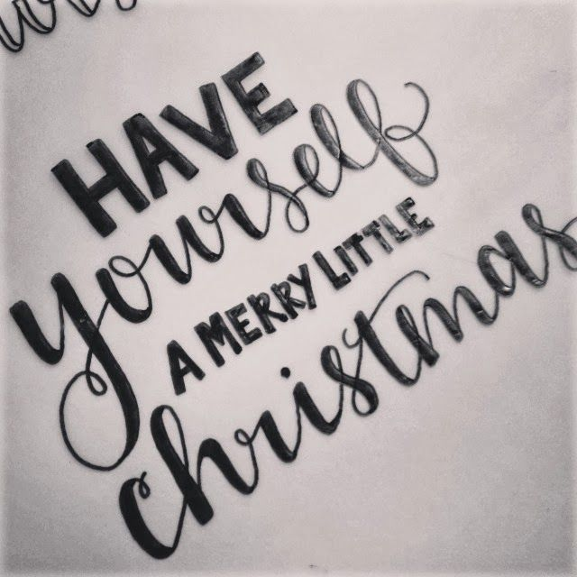 Have yourself a merry little christmas hand lettering by