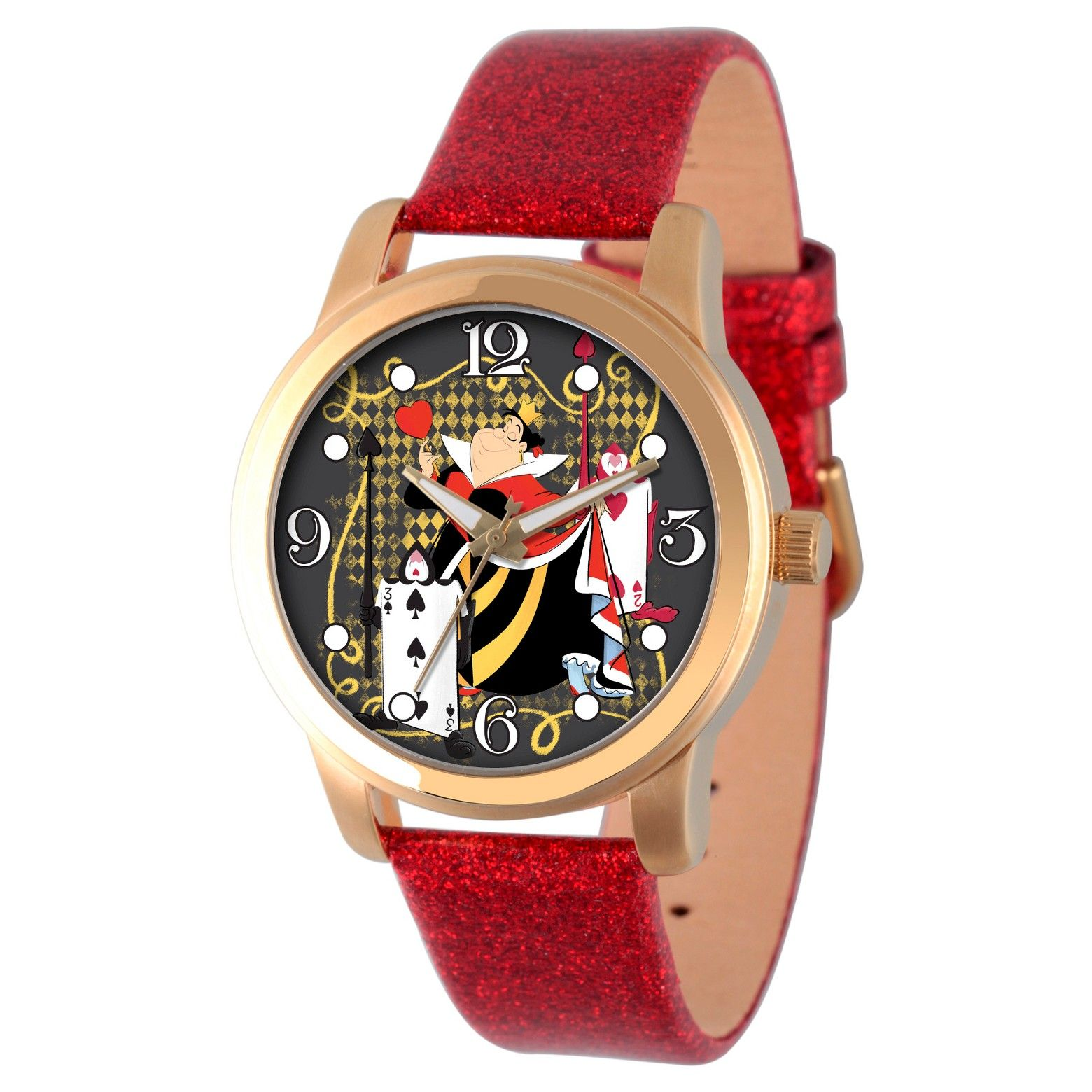 Women's Disney Alice in Wonderland Gold Alloy Watch with the Queen of Hearts  #affiliate