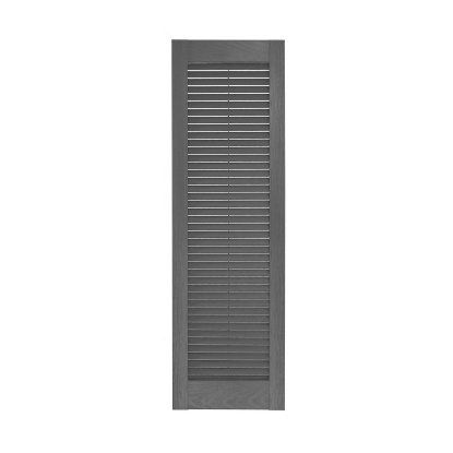Perfect Shutters 17.75W in. Louvered Straight Top Vinyl Shutters