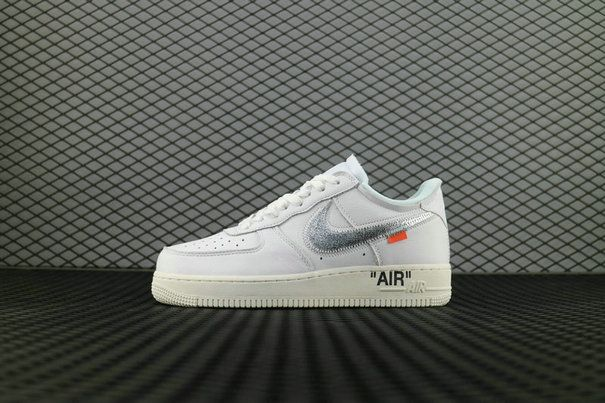Off White X Nike Air Force 1 07 Complexcon Ao4297 100 White Metallic Silver Sail Noir Voile Argent Metallique Shoes Super Deals