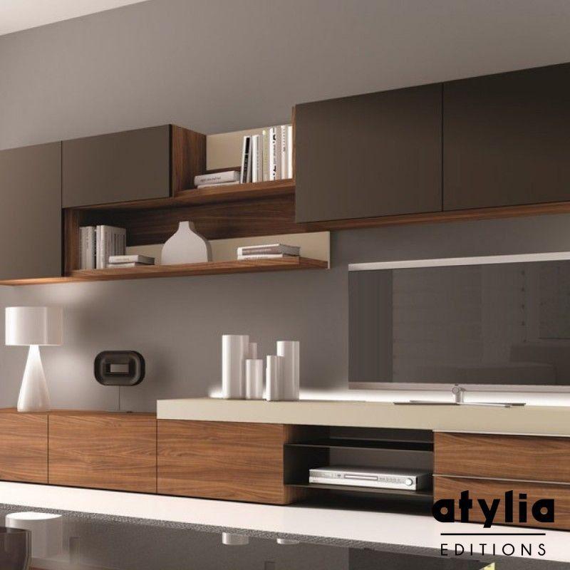 Meuble Mural TV Design Osane ATYLIA Editions Idées Pour La - Pinterest meuble tv pour idees de deco de cuisine