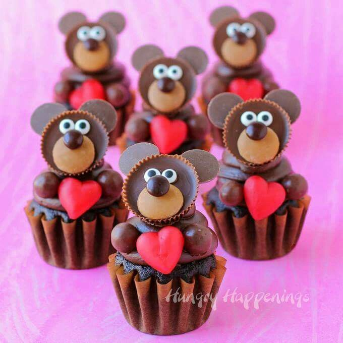 reeses love bear cupcakesfor valentines day these are the cutest cupcakes - Cupcake Valentine Box