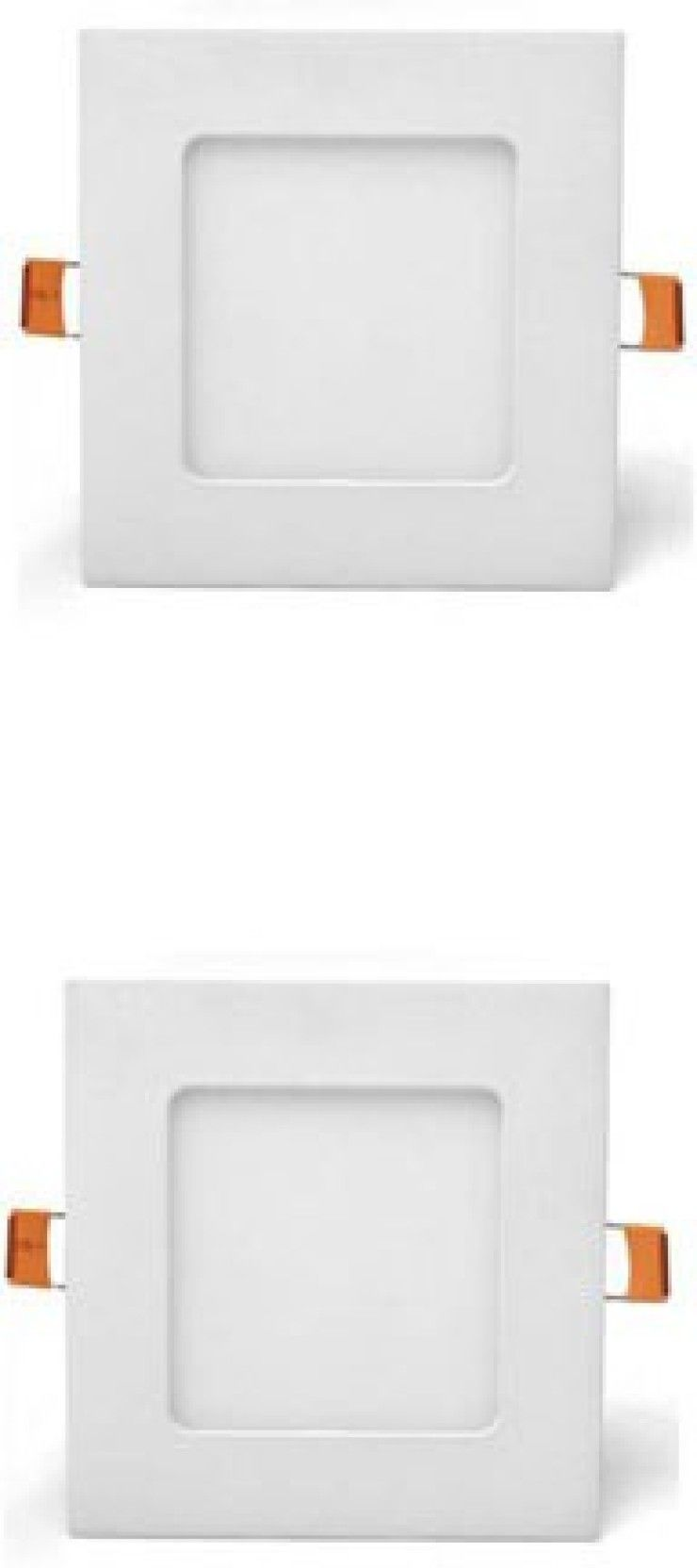 Galaxy 3 Watt Slim Panel Light Square Warm White Yellowish Pack Of 2 Recessed Ceiling Lamp