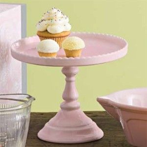 Rosanna Decor Bon Bon Footed Round Cake Stand Pink