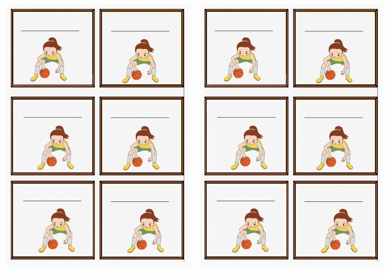 Free Printable Basketball Themed Name Tags