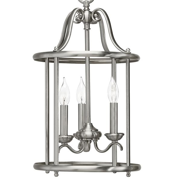 Kichler lighting 3 light nickel open foyer pendant