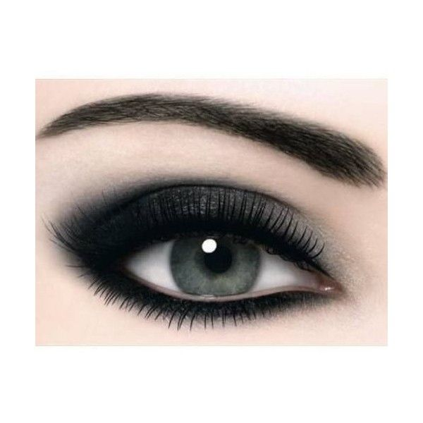 Makeup Dark Smokey Eye ❤ liked on Polyvore featuring beauty products, makeup, eye makeup and eyeshadow