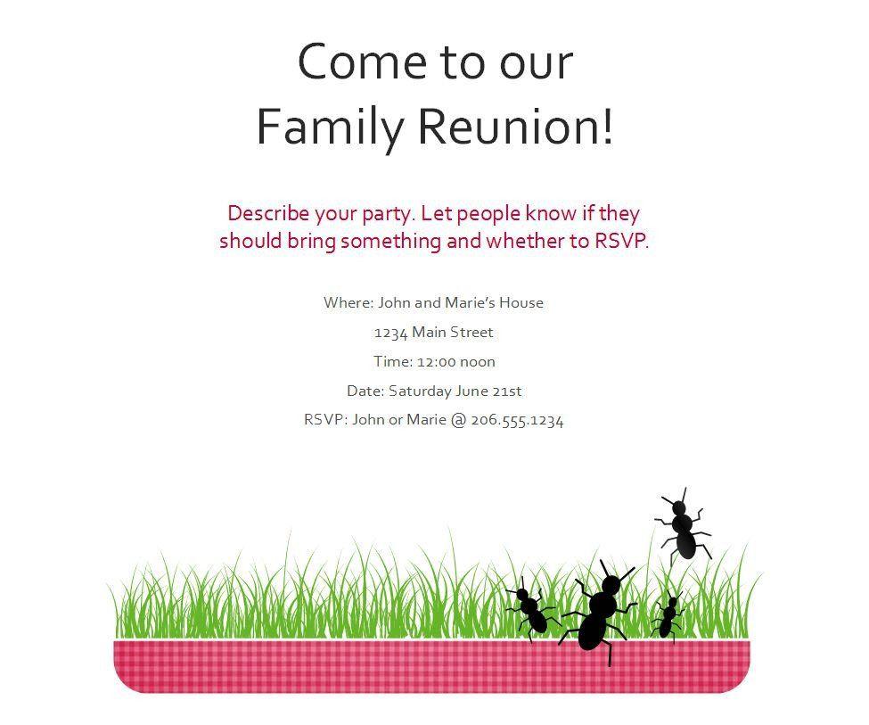 Family Reunion Flyer Templates Family Reunion Flyer Flyer Template Family Reunion Invitations Templates Family Reunion