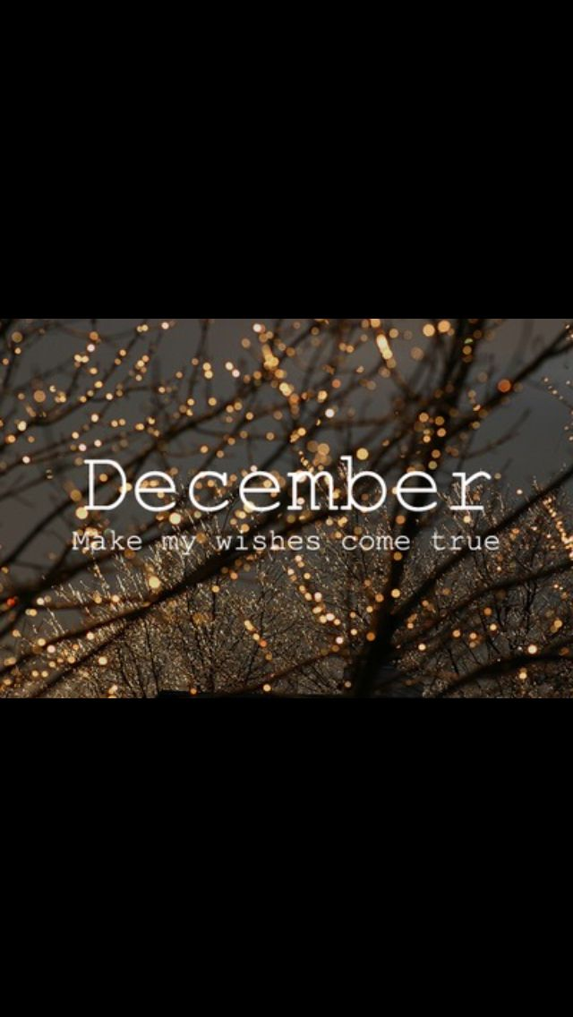 Christmas is coming so Decembe please make my wishes come true...
