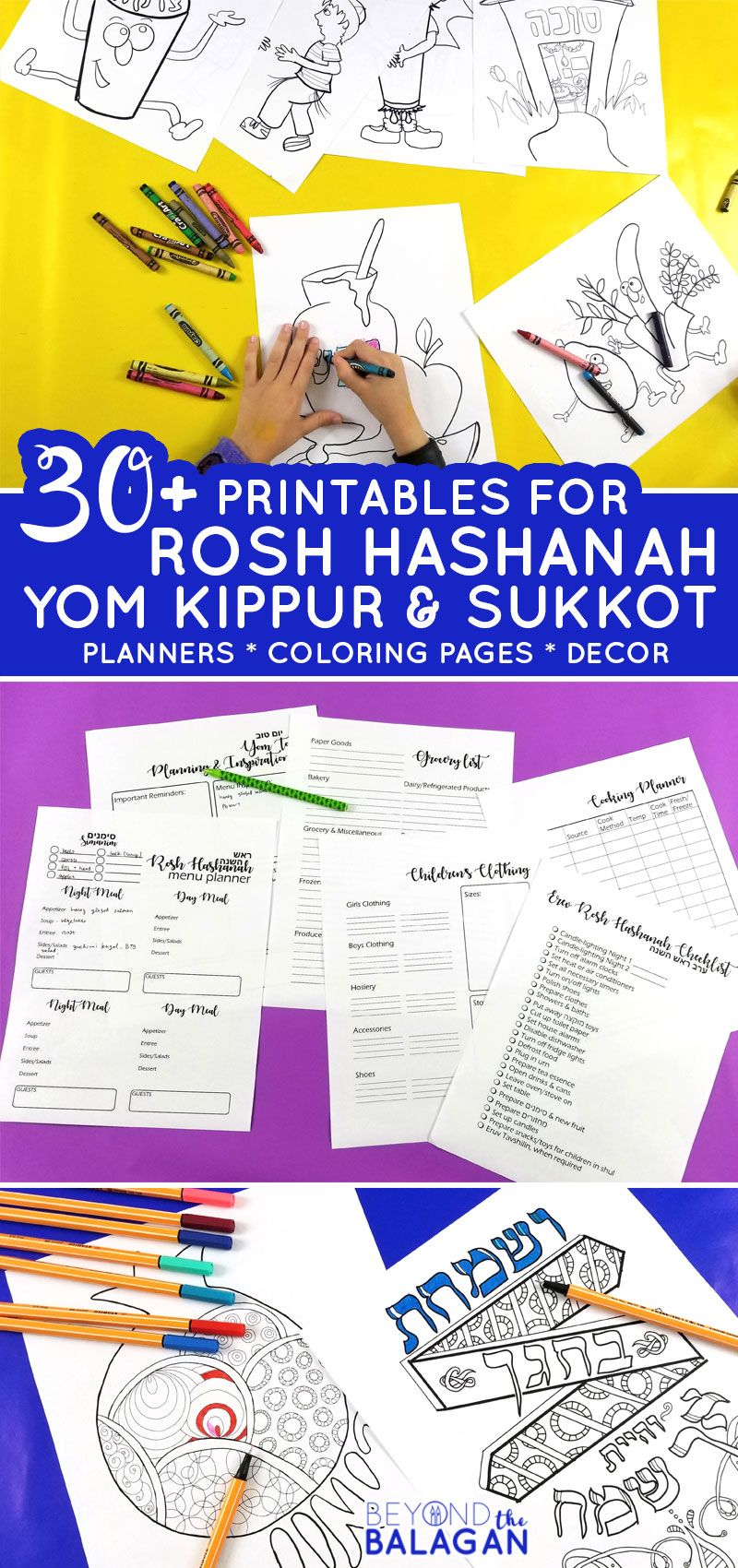 The Tishrei Planning And Creativity Bundle Rosh Hashanah Crafts Sukkot Sukkot Activities
