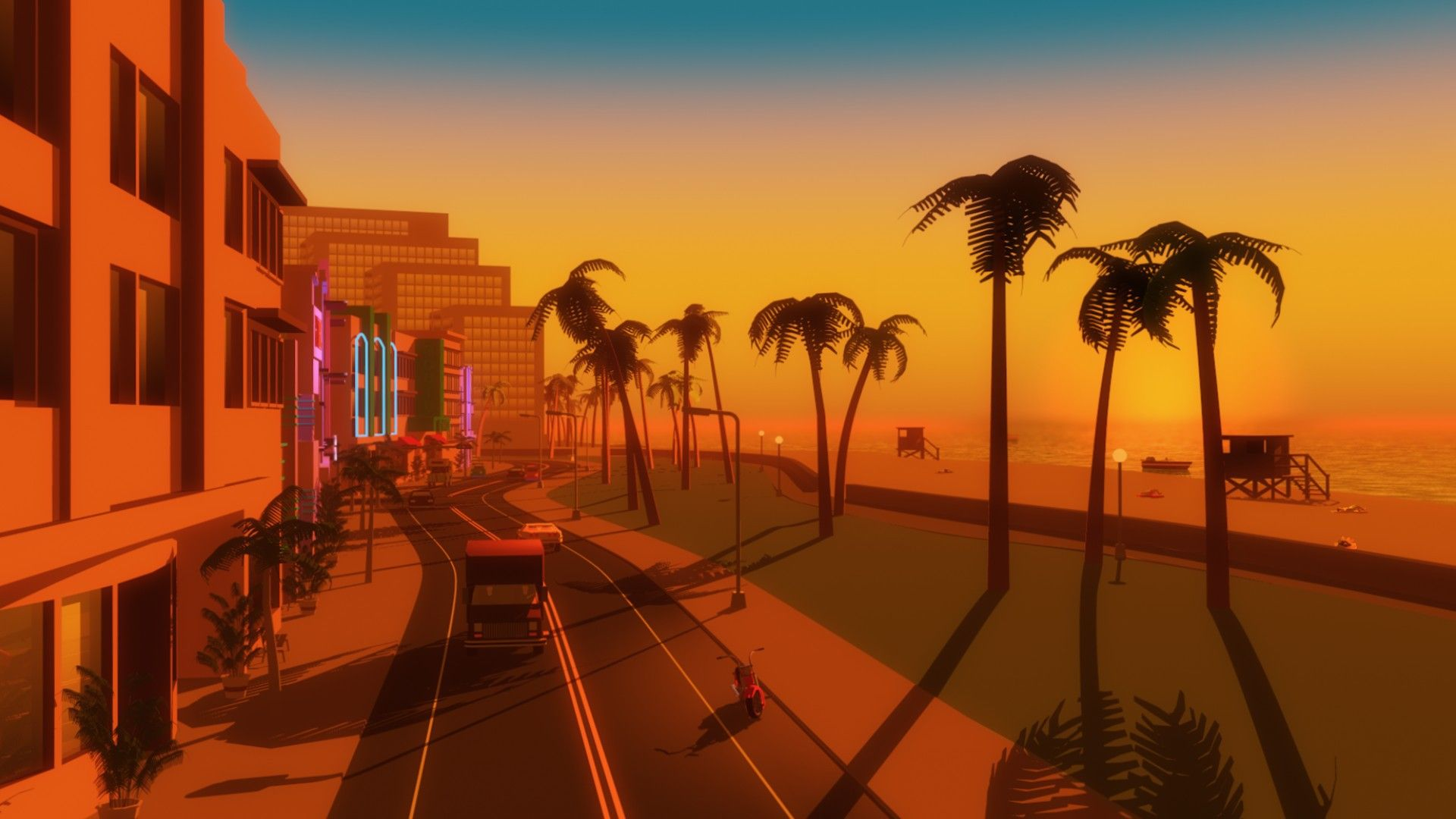 Video Games Palm Trees Gta Vice City Beach Wallpaper City Wallpaper Beach Wallpaper City Aesthetic