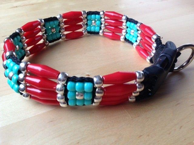 Cherokee Beaded Dog Collar