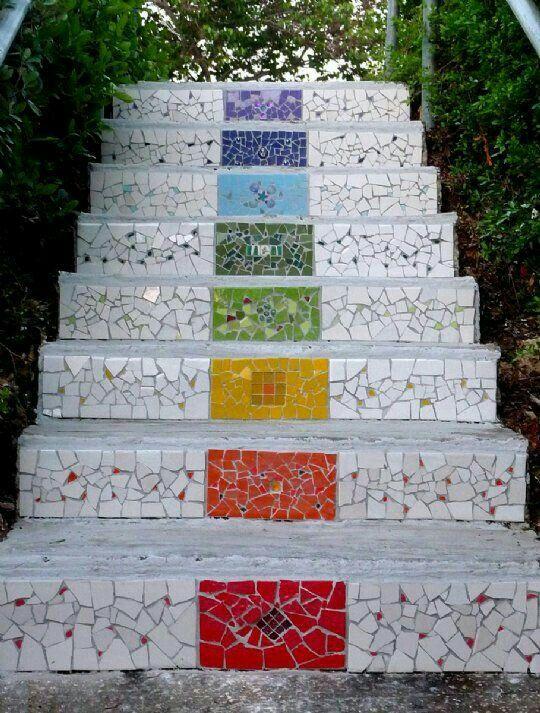 Hermosos! | Escalier de jardin, Escalier extérieur, Deco escalier