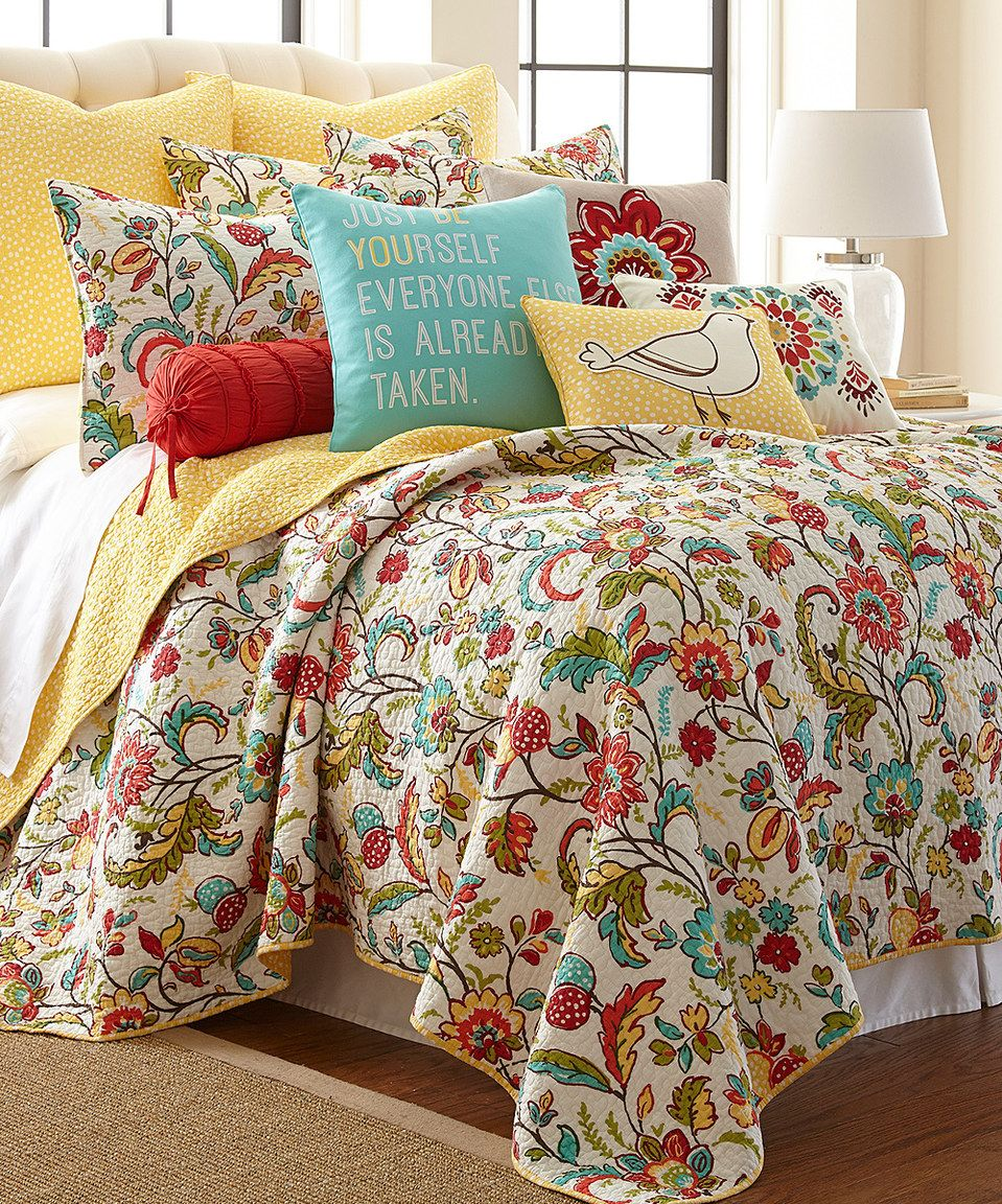 Another Great Find On Zulily Meadow Quilt Set By Levtex Home Zulilyfinds Quilt Bedding