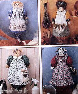 kitchen bag holder doll cat cowmichelle hains pattern