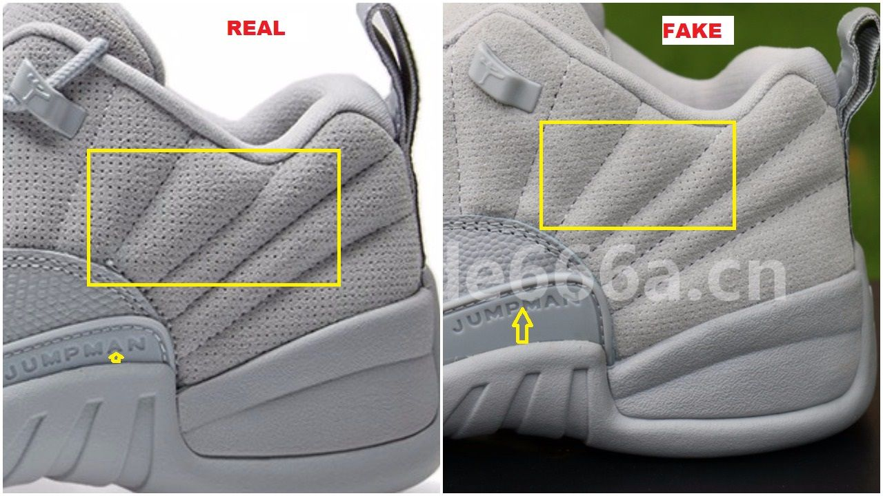 f459ca483bfd49 Quick Ways To Spot The Fake Air Jordan 12 Low Wolf Grey in 2019 ...