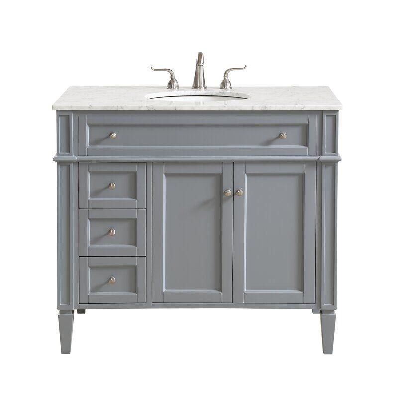 Antionette 40 Single Bathroom Vanity Set Marble Vanity Tops Single Bathroom Vanity Single Sink Bathroom Vanity