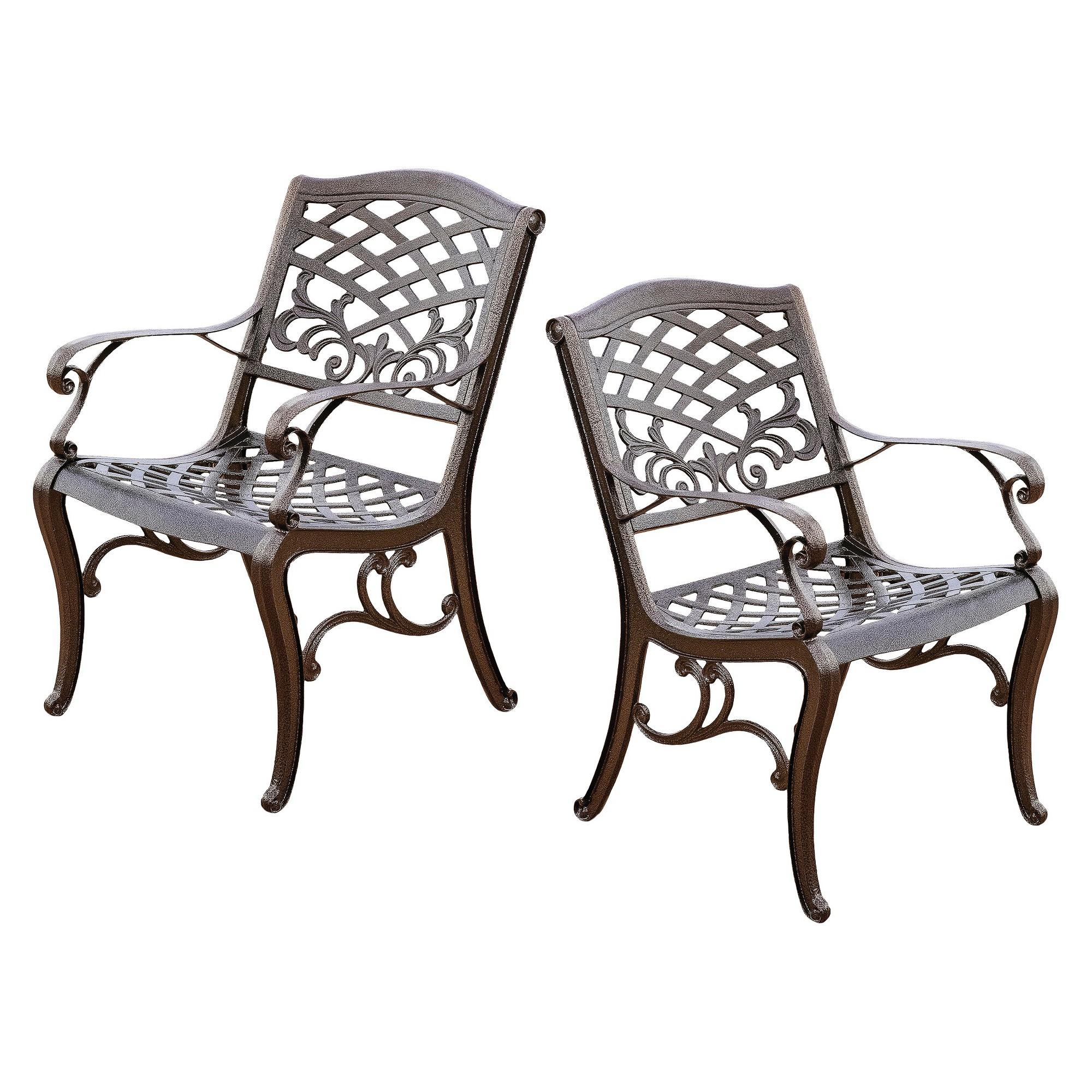 Patio Furniture Sarasota Florida: Sarasota Set Of 2 Cast Aluminum Patio Chair