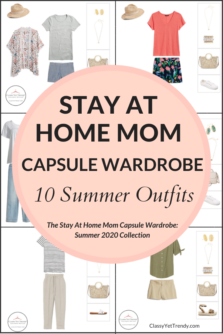 Stay At Home Mom Summer 2020 Capsule Wardrobe Preview + 10 Outfits