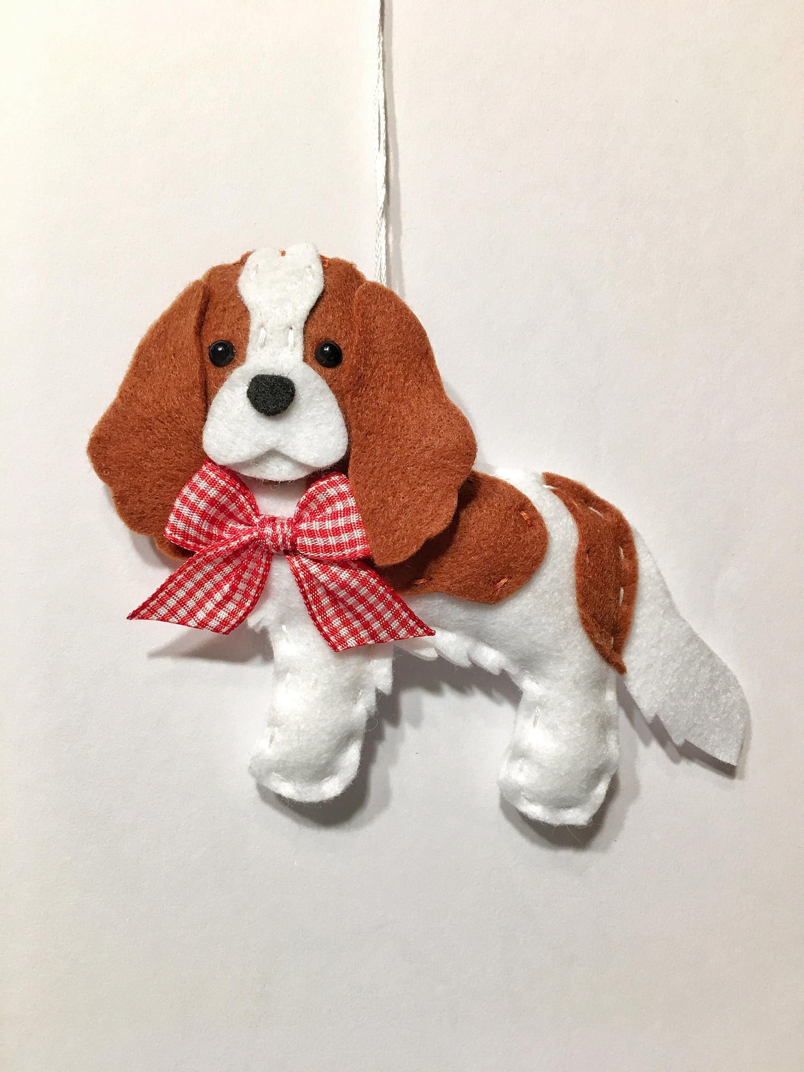 2085 Cavalier King Charles Dog Ornament Personalized with Your Dog/'s Name