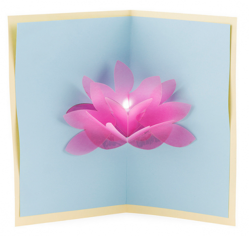 Paper Circuits Lotus Flower Pop Up Card Pop Up Flower Cards Flower Cards Paper Circuits
