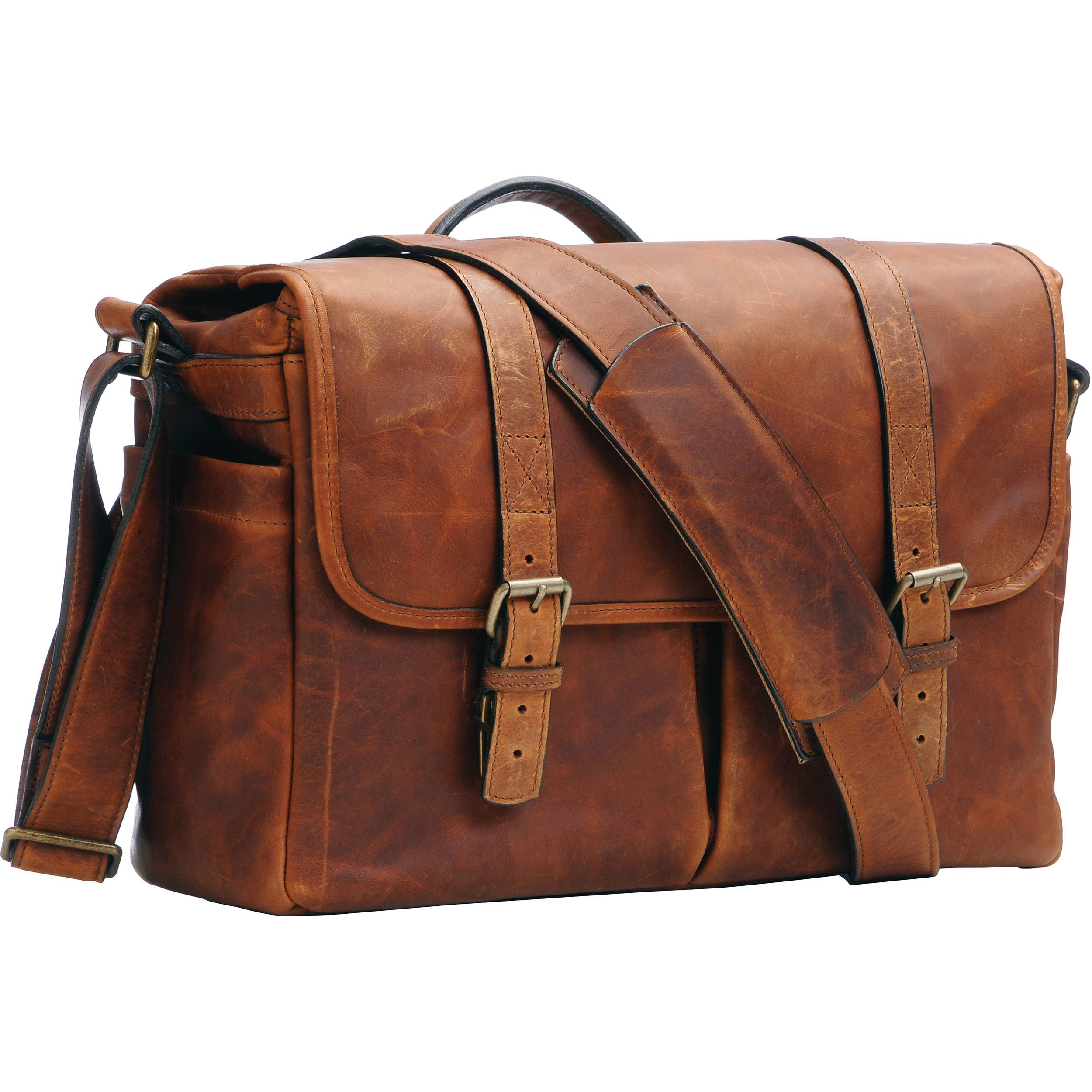 ONA Brixton Camera/Laptop Messenger Bag (Leather, Antique Cognac ...