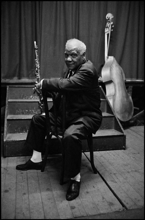 FRANCE. Paris. 1958. Sidney BECHET, clarinet player, saxophone player, composer and band leader.