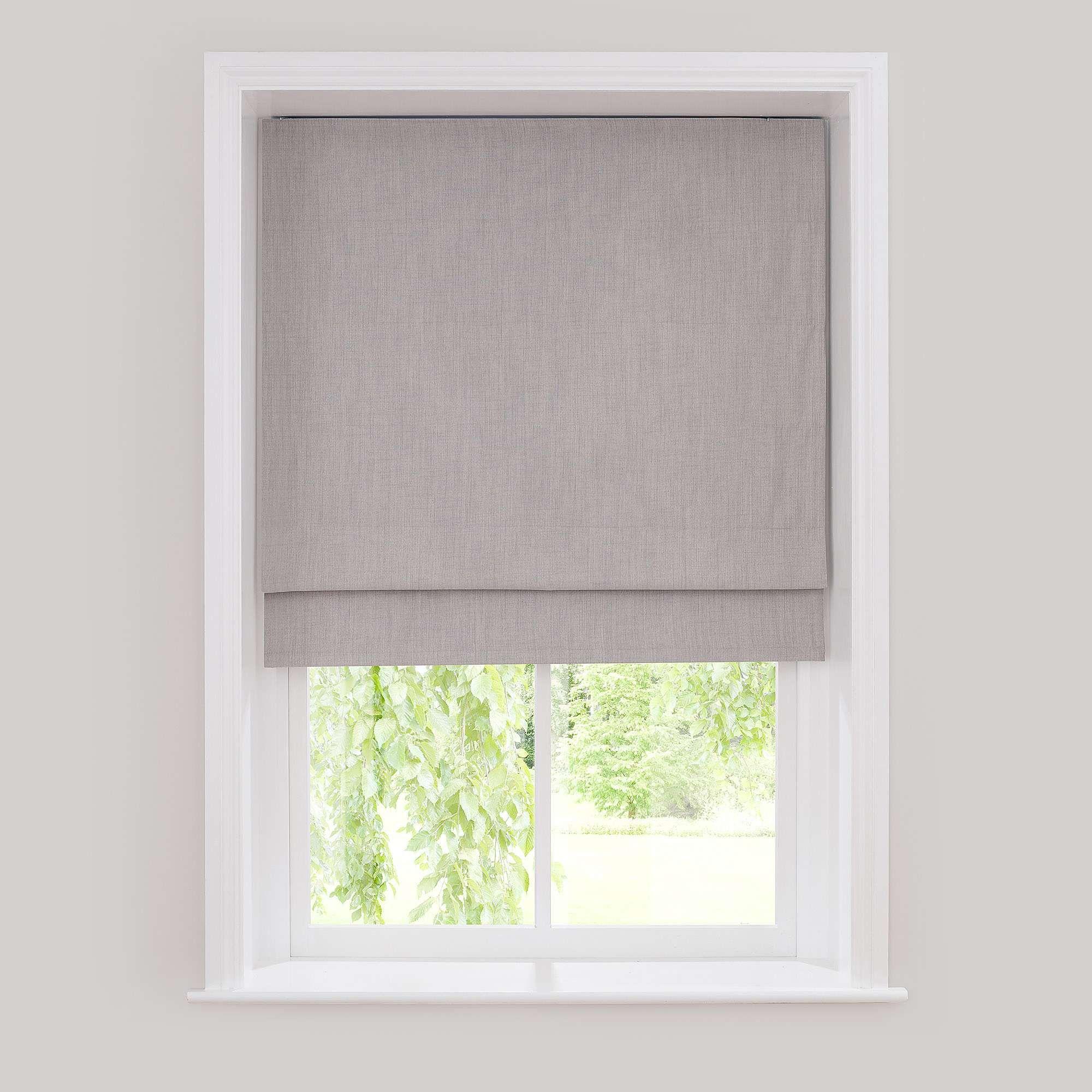 Solar Grey Blackout Roman Blind Dunelm House Blinds Blackout Roman Blinds Curtains With Blinds
