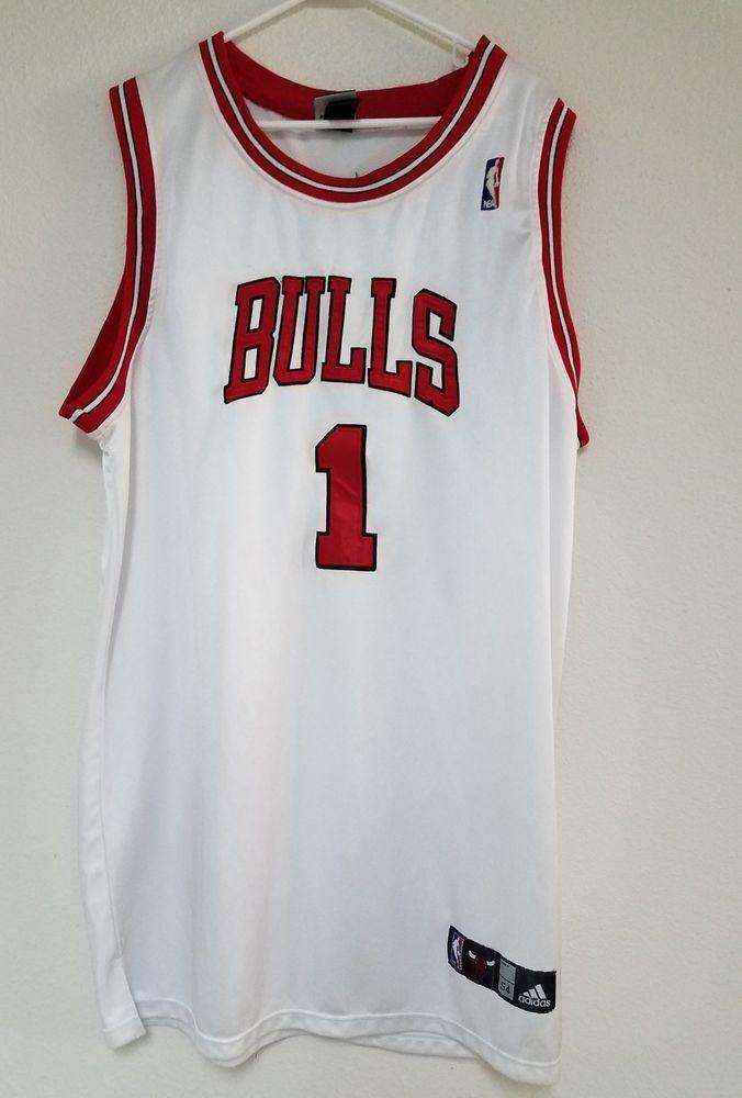 NBA CHICAGO BULLS BASKETBALL SHIRT JERSEY ADIDAS DERRICK ROSE #1 | eBay