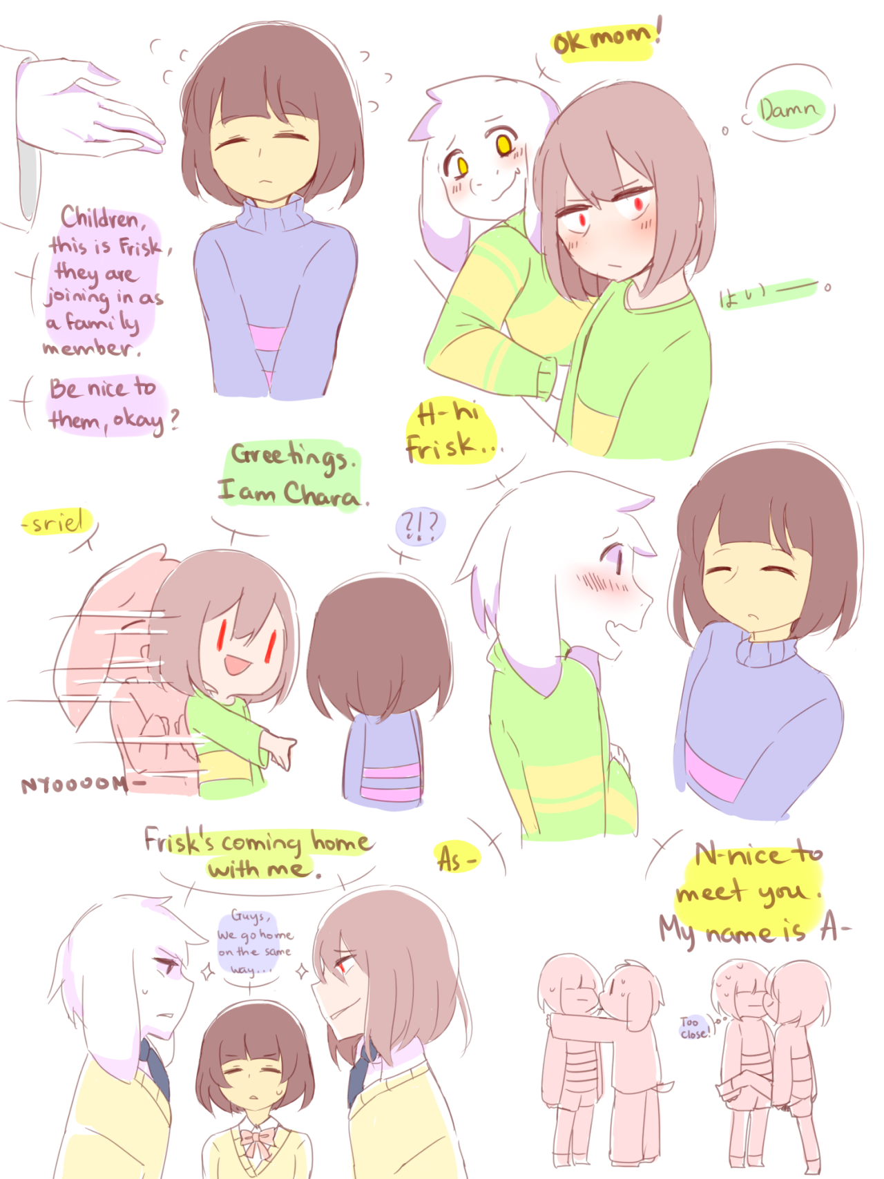 If Chara and Asriel meet Frisk for the first time | aka-tsu