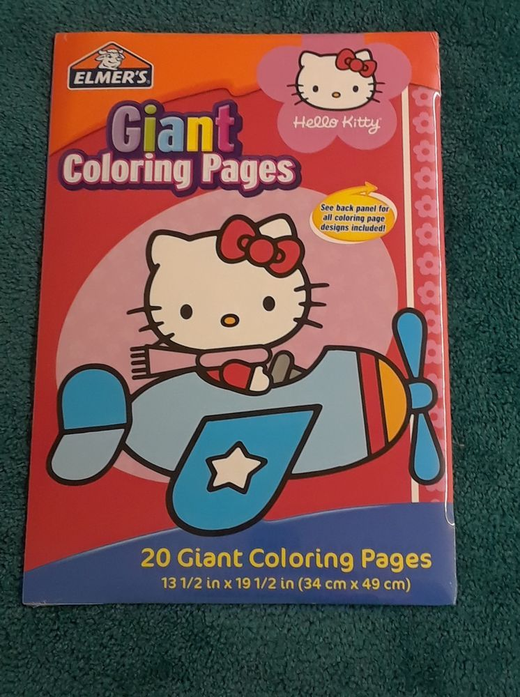 HELLO KITTY 20 GIANT COLORING PAGES NEW SEALED 2008 SANRIO ...