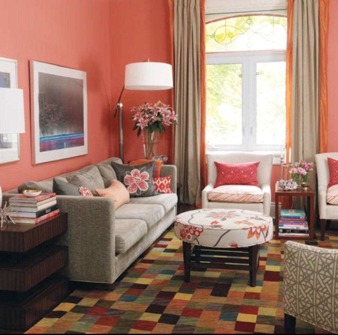 Terracotta And C Colour Schemed Living Room