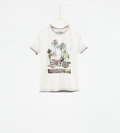 "Camiseta "" Miami Beach""-CAMISETAS-NIÑO | 4-14 años-NIÑOS | ZARA España"