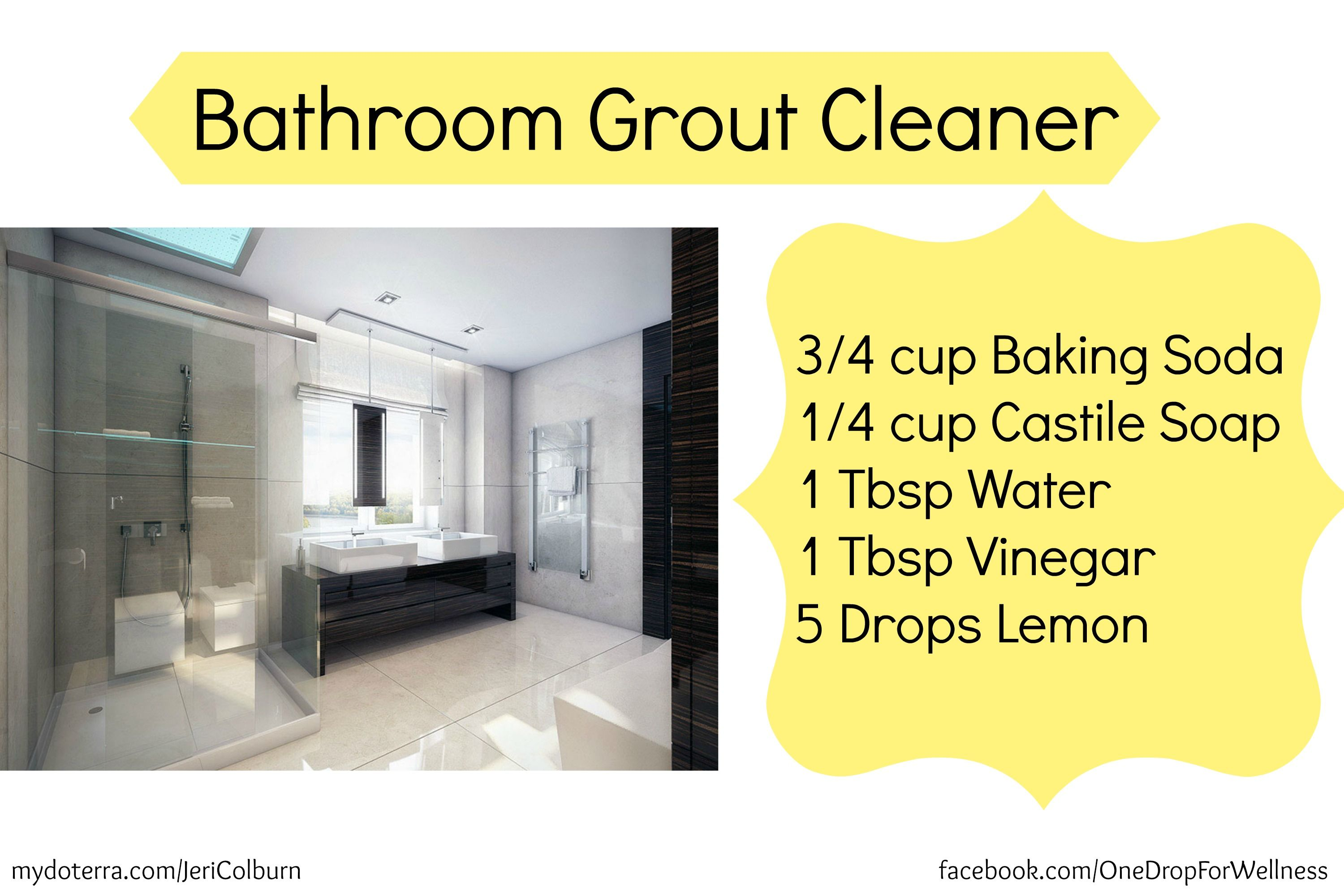 Diy bathroom grout cleaner with doterra essential oils - Diy bathroom cleaner essential oils ...
