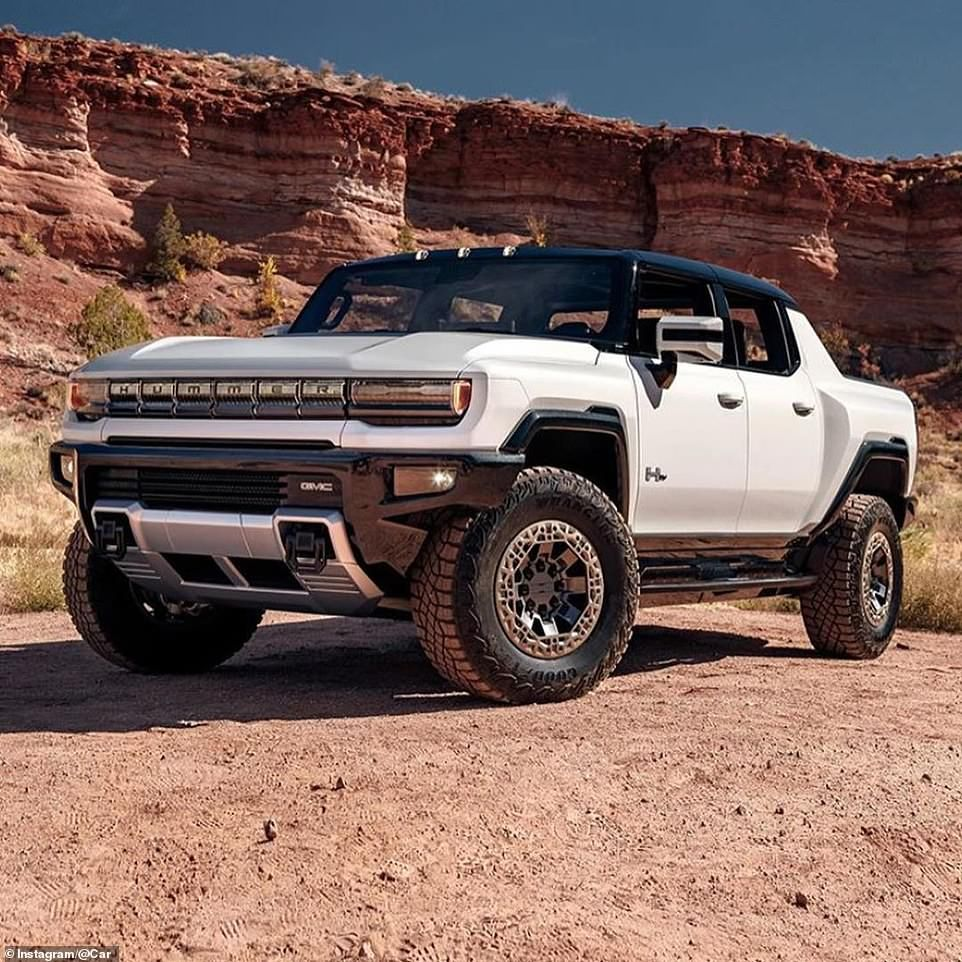 Battery Powered Hummer Pickup Heads To Showrooms In 2021 For 112 000 Hummer Hummer Pickup Gmc