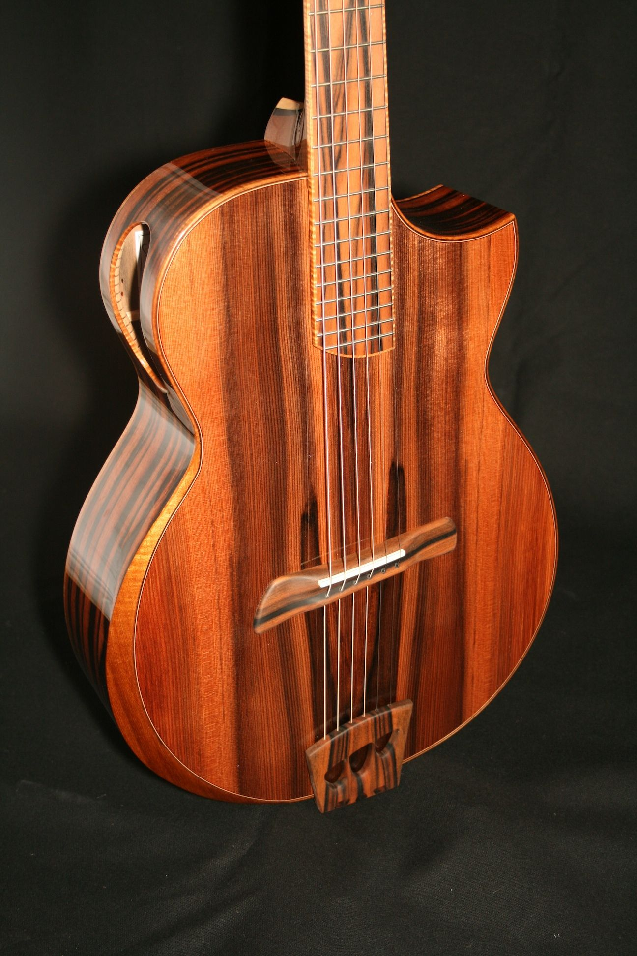 """Batson Grand Concert. RESEARCH #DdO:) - https://www.pinterest.com/DianaDeeOsborne/instruments-for-joy/ - I've found there are 8 original Batson Prototypes, handmade. This is like the back side of the blond wood Brazilian wood Adirondack Prototype - Handmade and signed between tuners on back of headstock by Cory Batson in 2007 /2008. """"Only"""" $7,900 because there's some wear- Offered at a deep discount minor blemishes in the finish."""