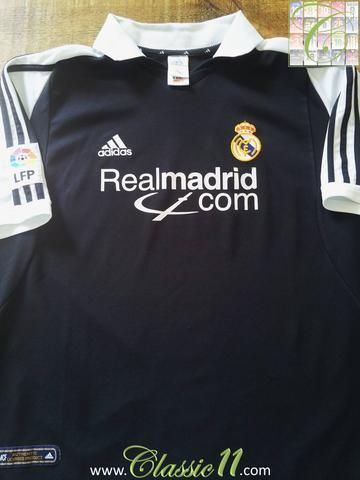 8bf9b7c8c4a Relive Real Madrid s 2001 2002 La Liga season with this original Adidas away  football shirt.
