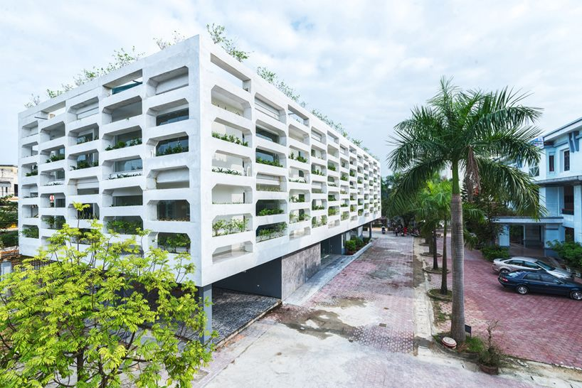 H P Architects Stacks Concrete Ha Tinh Office Building In