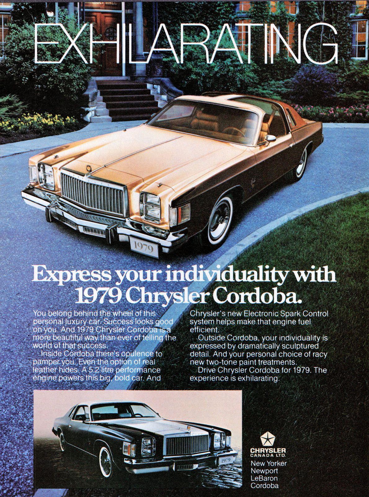1976 CHRYSLER CORDOBA Car Vintage Look REPLICA METAL SIGN RICARDO MONTALBAN