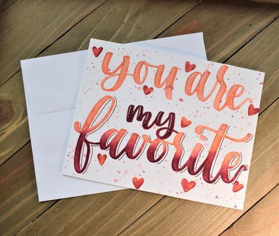You are my favorite , letterpress valentine , letterpress