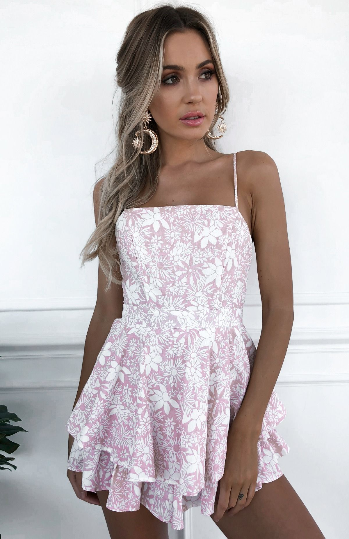 5f03ae4c5a Daphne  Playsuit in Pink  90