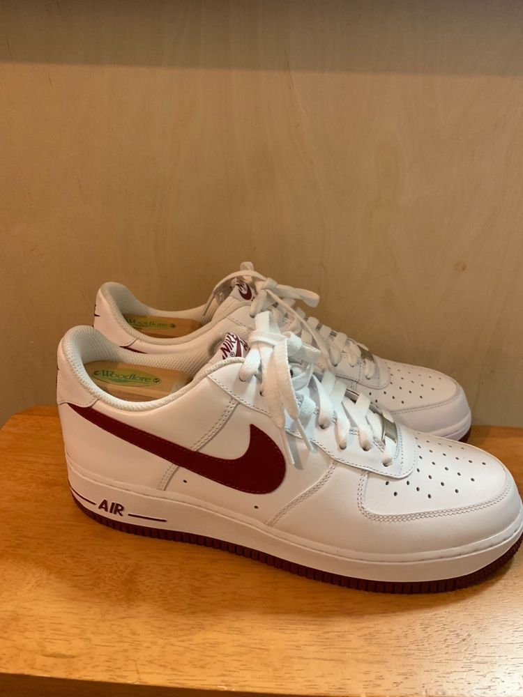 3ab5e6ba3b air force 1 Mens 10.5 White with Burgundy Nike check #fashion #clothing # shoes #accessories #mensshoes #athleticshoes (ebay link)