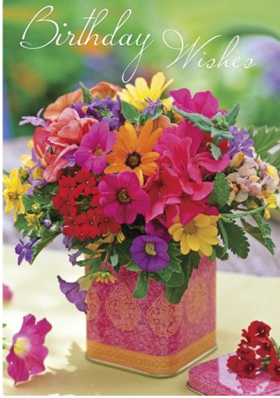 bright beautiful flowers fir a bright beautiful friend – Cute Happy Birthday Cards for Friends