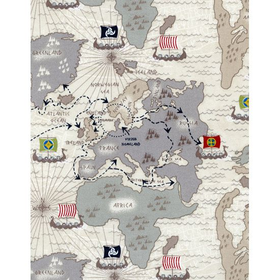 Tt viking organic fabric old world map with viking territories on tt viking organic fabric old world map with viking territories on tan light brown 975 gumiabroncs Images