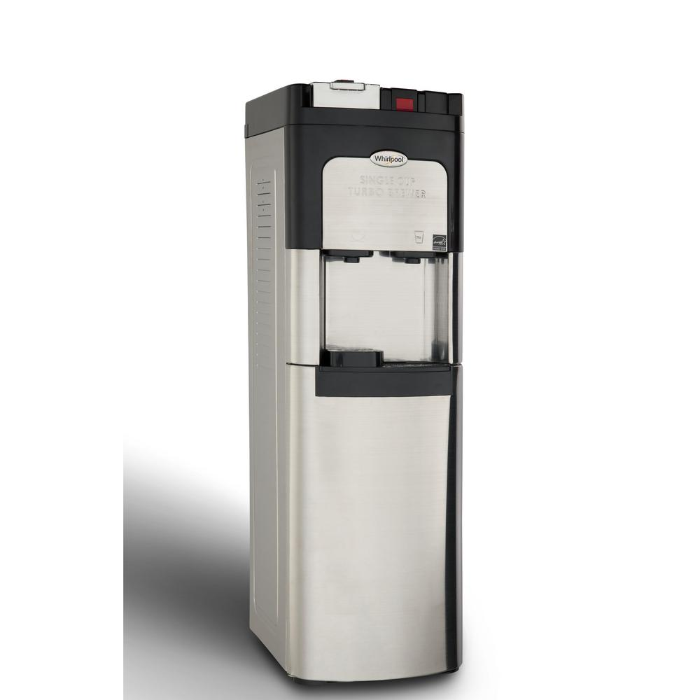 Single Cup Coffee Maker and Self-Cleaning Water Cooler in Stainless ...