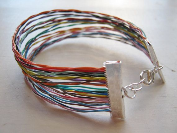 Printer Cable Bracelet Reciclaje, Pulseras y Reciclado